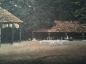 farm huts for War Horse