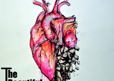 heart-turning-to-stone-bueatiful-game-single-cover-ink-and-water-colour
