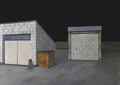 Rooftop  - Gouache on Board 28 * 35 cm